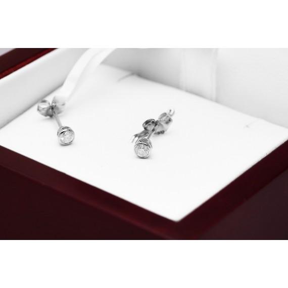 14CT WHITE GOLD DIAMOND EARRINGS
