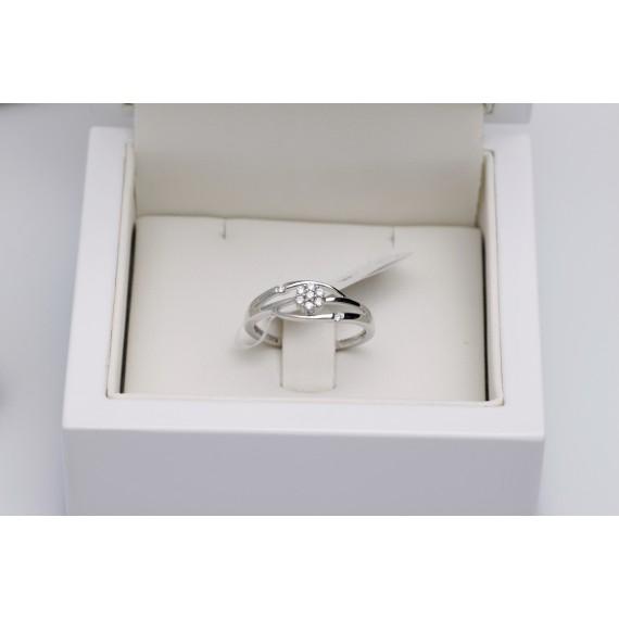 14CT WHITE GOLD DIAMOND DRESS RING