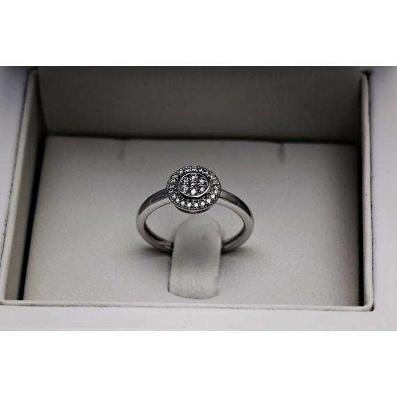 14CT WHITE GOLD DIAMOND DRESS RING