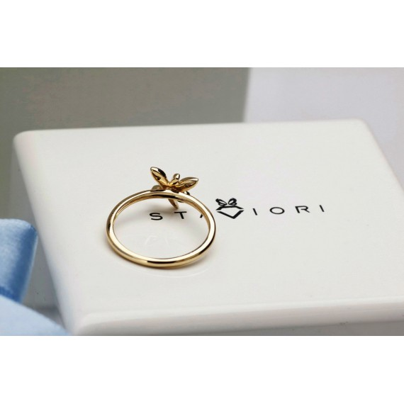 14CT GOLD DIAMOND BUTTERFLY DRESS RING