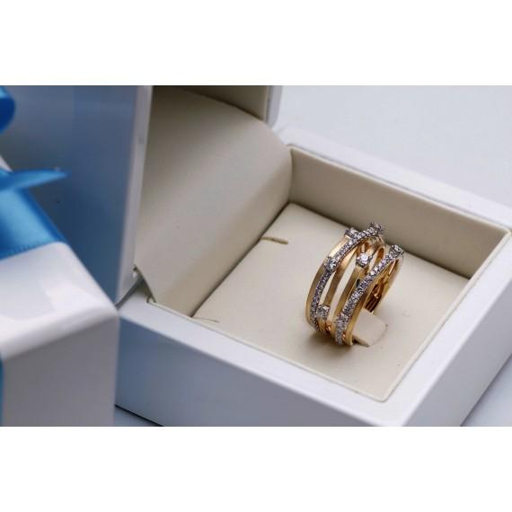 18CT GOLD DIAMOND DRESS RING