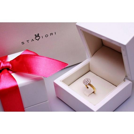 14CT GOLD DIAMOND DRESS RING